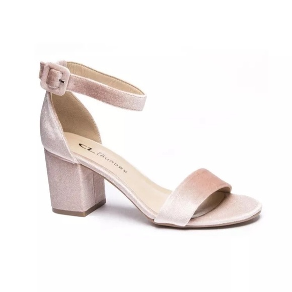 d27afc85eff9 Chinese Laundry Shoes - Chinese Laundry Jody Velvet Petal Pink Heels Sz 7